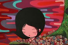 TOZ / Nina Presa no Paraíso / Técnica mista sobre tela  - 2010 - 150 x 150 cm