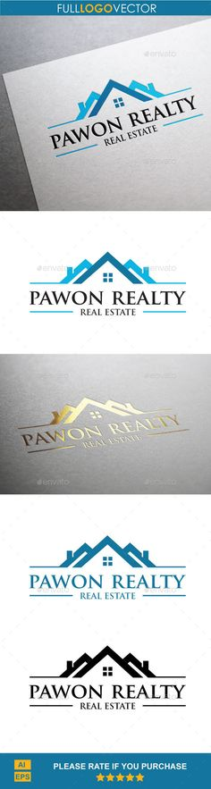 Real Estate Logo Design Template Vector #logotype Download it here:  http://graphicriver.net/item/real-estate/9937152?s_rank=10?ref=nexion