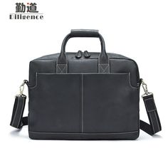 """Universe of goods - Buy """"Men's Genuine Leather Messenger Bag Male Head Layer Cowhide Handbag Business Briefcase"""" for only 169 USD. Laptop Tote, Leather Laptop Bag, Leather Briefcase, Leather Crossbody Bag, Laptop Briefcase, Crossbody Bags, Business Briefcase, Briefcase For Men, Men's Totes"""