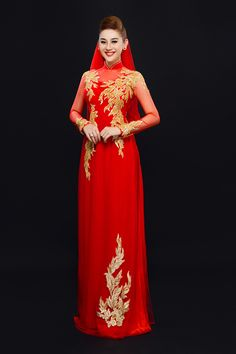 Phoenix Gown Bride Wedding Dress Chinese Style Costume Cheongsam ...