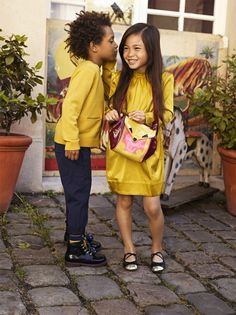Yellow and navy