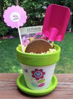 Children's Flower Pot Garden Set by EllensClayCreations on Etsy, $16.00