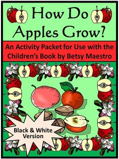 How Do Apples Grow: This activity packet complements the children's book, How Do Apples Grow, by Betsy Maestro.  Contents include: * Reading comprehension quiz  * Apple matching worksheet * Apple growth stages sequencing worksheet * Pollination writing activity * Math coloring worksheet * Two apple bushel coloring sheets * Apple wreath construction craft  * Answer keys  #Apples #Science #Plants #Activities #Worksheets #Autumn #Fall #Harvest #Thanksgiving #Halloween #Spring