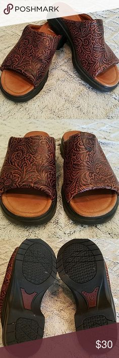 NWOT Ariat leather embossed slip on shoes NWOT Ariat leather embossed slip on shoes. Ariat Shoes