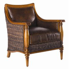 Shop for Tommy Bahama Home Agave Leather Chair, and other Living Room Chairs at Lexington Home Brands in Thomasville, NC. Hudson Furniture, Home Furniture, Rattan Furniture, Lexington Furniture, Dream Furniture, Outdoor Furniture, Furniture Ideas, British Colonial Style, Lexington Home