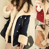 Sihpping mulheres lã casaco de inverno casaco de algodão acolchoado