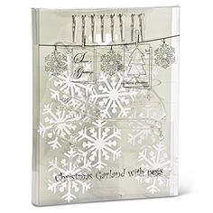 Abbott Collection Snow Flake and Clip Garland 63Inch ** This is an Amazon Affiliate link. Visit the image link more details.