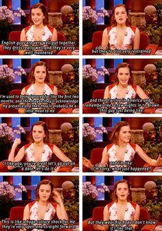 Emma Watson on Ellen, English vs. American guys :)