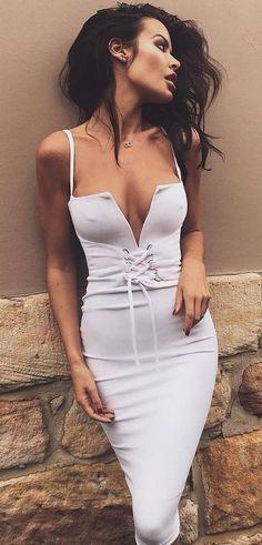 sexy white dress