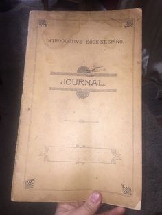 ANTIQUE HAND WRITTEN JOURNAL LEDGER 1891 Book Keeping Cedar bluff Alabama