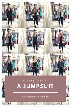 All White Jumpsuit Casual Black Jumpsuit, Black Jumpsuit Outfit, Jumper Outfit, White Jumpsuit, Black Women Fashion, Womens Fashion, Fashion Edgy, Fashion Boots, Fashion Scarves