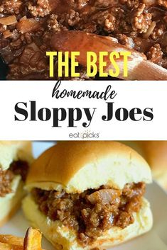 The Best Homemade Sloppy Joe recipe is ready in under 30 minutes and makes a gre. - Dinner The Best Homemade Sloppy Joe recipe is ready in under 30 minutes and makes a gre. Best Homemade Sloppy Joe Recipe, Homemade Sloppy Joes, Sloppy Joes Recipe, Crockpot Recipes, Cooking Recipes, Cooking Tips, Easy Recipes, Food Advertising, Thing 1