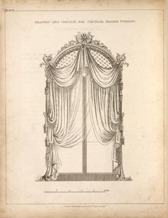 Drapery and curtain for circular headed window / cabinet-maker and upholsterer's guide : being a...