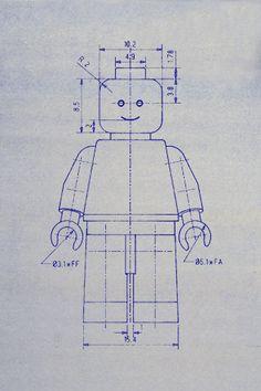 Make a 3D LEGO Minifig - Brain Power Boy