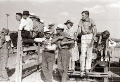 Spectators at the county fair, 1939.