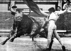 Dámaso en Pamplona, corría el año 1982 con un toro de Miura llamado Tramposo. Genial!!!