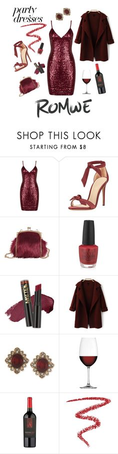 """""""Wine me baby!!"""" by nashalymoe ❤ liked on Polyvore featuring Alexandre Birman, OPI, L.A. Girl, Marchesa, Nachtmann and By Terry"""
