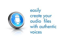 create audio files easily in foreign languages, can also go with powerpoints, etc...