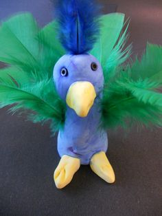 india ---  national bird is the peacock. make smaller Model Magic Peacocks for swaps.
