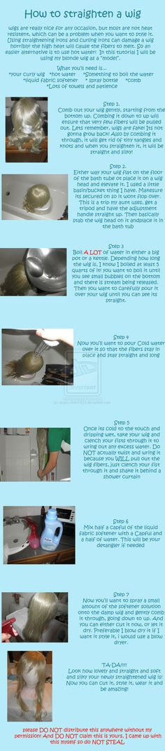 How to straighten a wig