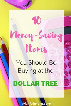 This articles is about 10 Dollar Tree items you should buy to save money.