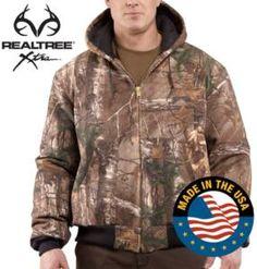 Carhartt Men's WorkCamo APQuilt Flannel Lined  Active Jackets