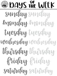 Brush Lettering FREEBIE: Days of the Week Practice Sheet – Whole Lotta' Southern Brush Lettering FREEBIE: Days of the Week Practice Sheet brush lettering freebie days of the week procreate pdf practice sheets free Brush Lettering Worksheet, Lettering Guide, Hand Lettering Practice, Hand Lettering Alphabet, Creative Lettering, Brush Letter Alphabet, Calligraphy Worksheet, Brush Pen Calligraphy, Hand Lettering For Beginners