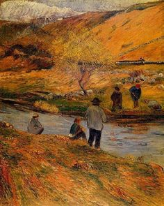 Breton Fisherman by Paul Gauguin in oil on canvas, done in Now in a private collection. Find a fine art print of this Paul Gauguin painting. Paul Gauguin, Henri Matisse, Pablo Picasso, Vincent Van Gogh, Gravure Photo, Georges Seurat, Impressionist Artists, Pierre Bonnard, Tahiti