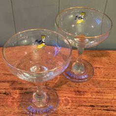 1970s Babycham glasses set of two retro cocktail by MyVintageWren