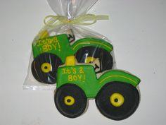 JOHN DEERE bathroom | cookies for a john deere themed baby shower - It's a BOY!