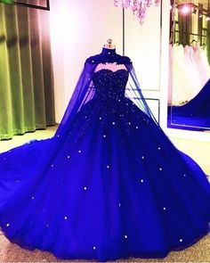 Pretty Quinceanera Dresses, Royal Blue Prom Dresses, Pretty Prom Dresses, Quince Dresses, Royal Blue Gown, Quincenera Dresses Blue, Bleu Royal, Tulle Ball Gown, Ball Gowns Prom