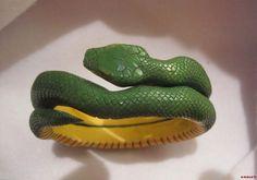 Carved Snake Bracelet Very RARE Green Yellow Layered Vintage Bakelite Reptile | eBay