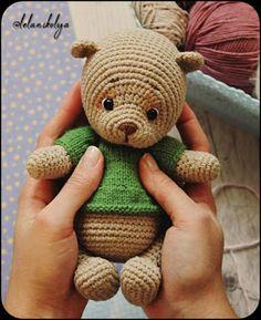 Mini Bear Free Pattern – Amigurumi Free Patterns And Tutorials Crochet Teddy Bear Pattern, Crochet Dolls Free Patterns, Baby Knitting Patterns, Crochet Appliques, Crochet Easter, Crochet Baby, Crochet Birds, Crochet Animals, Crochet Double