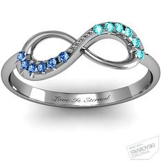 Infinity Accent Ring - ♥