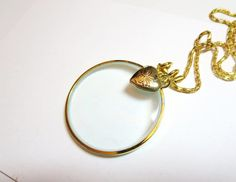 """Magnifying Necklace -2""""-Faith pendant- Magnifying Jewelry"""