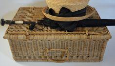 Wicker Picnic Basket French Picnic Basket by VintageRedTruck