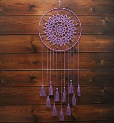 Crochet Mandala Pattern, Crochet Doilies, Diy Dream Catcher Tutorial, Dream Catcher Decor, Paper Christmas Decorations, Crochet Dreamcatcher, Wind Sculptures, Embroidery Patterns Free, Stuffed Toys Patterns