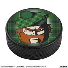 Scottish Warrior Clan MacArthur Arthur Tartan Hockey Puck