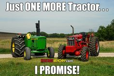 Famous last words. 📷: Super T JD 6030 and IH 1466 owned by Bob Miles of Collison, IL Farmall Tractors, Old Tractors, John Deere Tractors, Farm Jokes, Farm Humor, Agriculture Machine, Agriculture Tractor, Farming Quotes, Agriculture Quotes