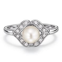 AVON'S Sterling Silver Genuine Freshwater Pearl Ring. June's Birthstone, Special price $29.99. Order here: www.youravon.com/mhamilton39