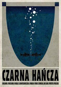 Czarna Hańcza. Poster by Ryszard Kaja #czarnahancza #poland #poster #polska #pologne #ryszardkaja #seeuinpoland #visitpoland