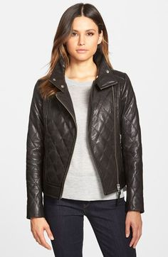 Mackage+Quilted+Leather+Moto+Jacket+available+at+#Nordstrom