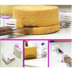 Plastikowe 2 sztuk kuchnia diy ciasto chleb cutter niwelator slicer stabilizatora narzędzia do cięcia 5 warstwy narzędzia