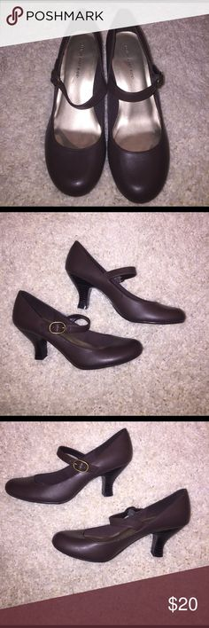 Brown Mary Jane Style Heels Brown short Mary Jane style heels. Still in new condition. Lower East Side Shoes Heels
