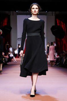 Perfect little black dress   Dolce Gabbana Ready to wear fall winter 2015 in Milan #black #dress
