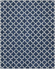 RugStudio presents Safavieh Chatham Cht717c Dark Blue / Ivory Hand-Tufted, Better Quality Area Rug