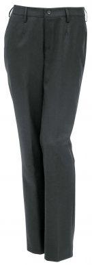 Naisten housut. Ajattomat naisten housut joustavaa ja kestävää villasekoitetta. Housuissa vyönlenkit, sivutaskut ja polvisilkit.
