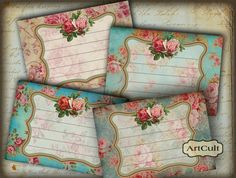 ROMANTIC VICTORIAN LABELS  Digital Collage Sheet  by ArtCult, $4.60