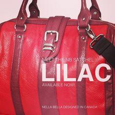 Meet the NB LILAC satchel! #handbags #fashion #hot #vegan #red #chic #NB2013