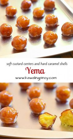 Yema - becca anne - Yema A Filipino candy with soft custard centers and crisp caramel shells - Pinoy Dessert, Filipino Desserts, Filipino Recipes, Filipino Food, Filipino Dishes, Cuban Recipes, Philipinische Desserts, Asian Desserts, Dessert Recipes